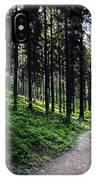 A Path Through A Dense Forest IPhone Case