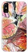 A Peach Of A Poinsettia IPhone Case