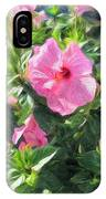 A Pink Hibiscus IPhone Case
