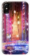 A Radio City Music Hall Christmas IPhone Case