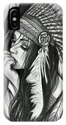 A Red Indian Girl IPhone Case
