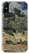 a replica of the landscape of Van Gogh IPhone Case