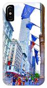 A Row Of Flags In The City Of New York 2 IPhone Case