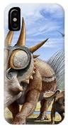 A Rubeosaurus And His Offspring IPhone Case