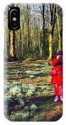 A Selfie In Snowdrop Wood IPhone Case