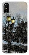 A Snowy Christmas At Big Bear IPhone Case