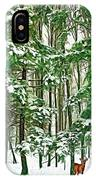 A Snowy Day - Paint IPhone Case
