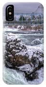 A Spokane Falls Winter IPhone Case