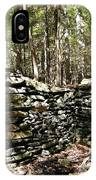A Stone Structure In The Berkshire Hills IPhone Case