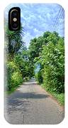 A Street Between Trees IPhone Case