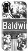 Ba - A Street Sign Named Baldwin IPhone Case