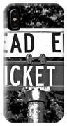 Cr - A Street Sign Named Cricket IPhone Case