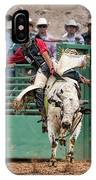 A Strong Bull Ride IPhone Case