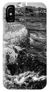 A Summer's Day At Nubble Light, York, Maine  -67969-bw IPhone Case