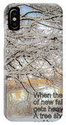 A Tree Shows Its Strength And Beauty IPhone Case
