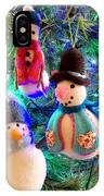 A Trio Of Snowmen IPhone Case