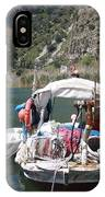 A Turkish Fishing Boat On The Dalyan River IPhone Case