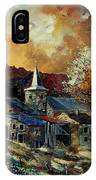 A Village In Autumn IPhone Case