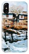 A Village In Winter IPhone Case