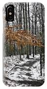 A Walk In The Snow Quantico National Cemetery IPhone Case