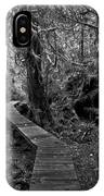 A Walk Through The Willowbrae Rainforest Black And White IPhone Case