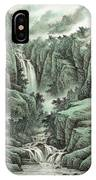 A Waterfall In The Mountains IPhone Case