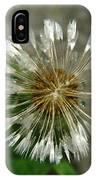 A Wet Dandelion  IPhone Case