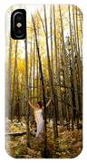 A Woman In The Aspen IPhone Case