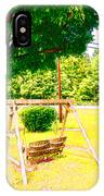 A Wooden Swing Under The Tree IPhone Case