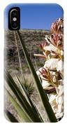 A Yucca Plant Blossoms In The Desert IPhone Case