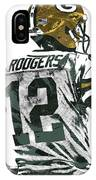 Aaron Rodgers Green Bay Packers Pixel Art 5 IPhone Case
