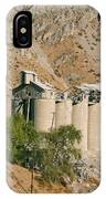 Abandoned Cement Silos IPhone Case