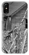 Abandoned Farmhouse Through Cornfield IPhone Case