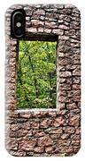 Abandoned Stone Wall With Window IPhone Case