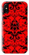 Abby Damask In Black Pattern 02-p0113 IPhone Case