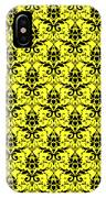 Abby Damask In Black Pattern 05-p0113 IPhone Case