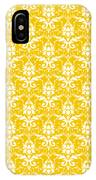 Abby Damask In White Pattern 05-p0113 IPhone Case
