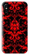 Abby Damask With A Black Background 02-p0113 IPhone Case