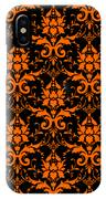 Abby Damask With A Black Background 03-p0113 IPhone Case