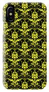 Abby Damask With A Black Background 05-p0113 IPhone Case
