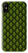 Abby Damask With A Black Background 09-p0113 IPhone Case