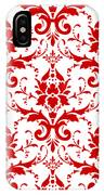 Abby Damask With A White Background 02-p0113 IPhone Case