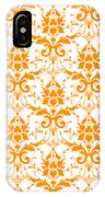 Abby Damask With A White Background 03-p0113 IPhone Case