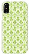 Abby Damask With A White Background 09-p0113 IPhone Case