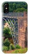Abraham Derbys Iron Bridge Rural Landscape IPhone Case