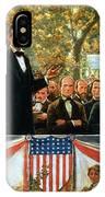 Abraham Lincoln And Stephen A Douglas Debating At Charleston IPhone Case