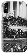 Abraham Lincoln Gives His Second Inaugural Address - March 4 1865 IPhone Case