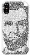 Abraham Lincoln Typography IPhone Case