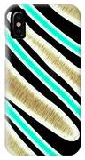 Abstract 35 Golden Tan Green Turquoise IPhone Case