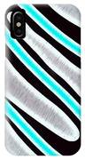 Abstract 35 Silver Blue Turquoise IPhone Case